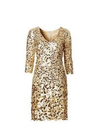 BODYFLIRT Sequin Shimmer Shift In Gold Size 20