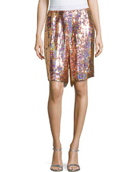 Stella McCartney Sequined Silk Shorts