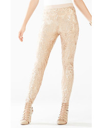 BCBGMAXAZRIA Dena Tapestry Sequined Leggings