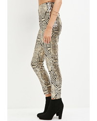 Forever 21 Geo Pattern Sequined Pants