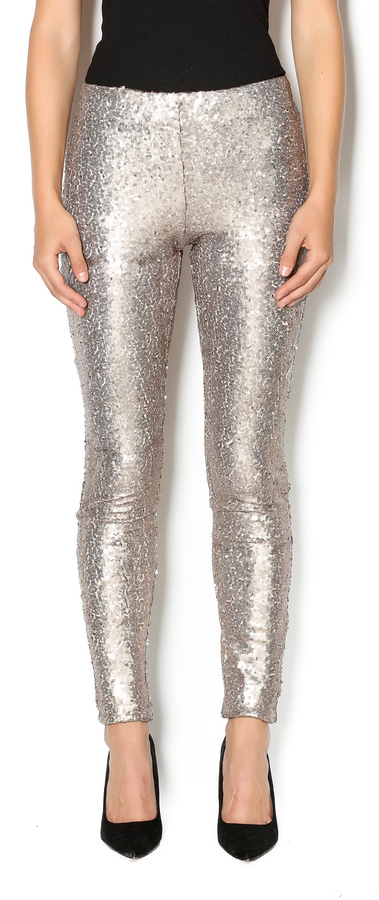 May July Champagne Sequin Legging
