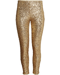 Sequined pants black ladies medium 357747