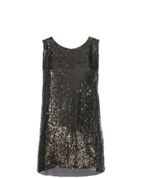 Gold Sequin Sleeveless Top
