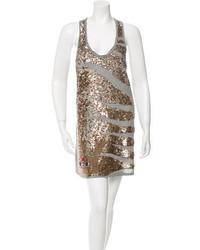 Sequin embellished mini dress medium 886694