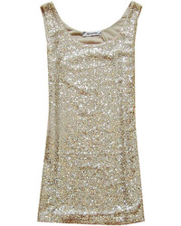 ChicNova Pure Color Luxury Sequins Long Tank