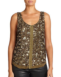 Sequin Hook And Eye Top