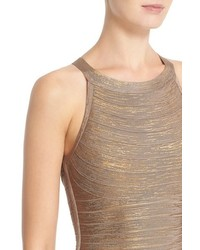 677a56b8 ... Sheath Dresses Herve Leger Renata Woodgrain Metallic Foil Bandage Dress  Herve Leger Renata Woodgrain Metallic Foil Bandage Dress ...