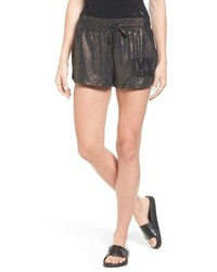 Ivy Park Lame Embroidered Logo Runner Shorts