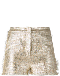 Gianluca Capannolo Metallic Boucl Shorts