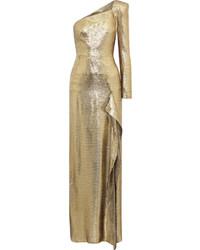 Gold Silk Evening Dress