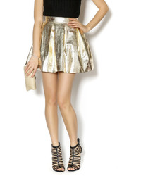 Honey Punch Gold Party Skirt