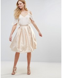 Forever Unique Metallic Skater Skirt
