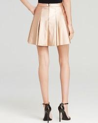 Aqua Skirt Metallic Pleated Mini