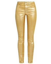 Gold Skinny Jeans