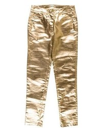 Moschino Couture Metallic Skinny Jeans