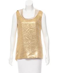 Metallic sleeveless top medium 3804081