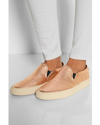 0d1eb4b51928 Common Projects Metallic Leather Slip On Sneakers, $425 | NET-A ...