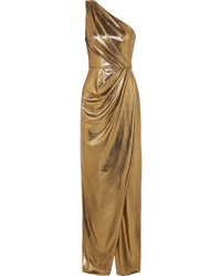 Gold Slit Evening Dress