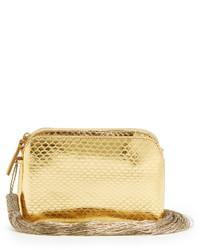 The Row Tassel Mini Snakeskin Clutch