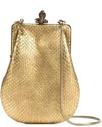 Saint laurent serpent clasp clutch bag medium 630638