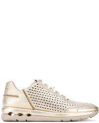 Salvatore Ferragamo Laser Cut Sneakers