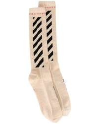 Off-White Diagonal Shiny Socks
