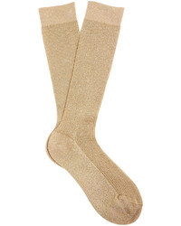 Raey Ry Metallic Ribbed Knit Socks