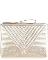 Golden Goose Deluxe Brand Embossed Star Clutch