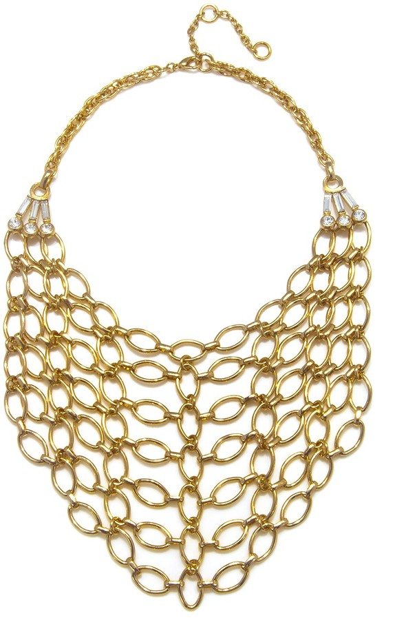 Gerard Yosca Gold Bib Necklace