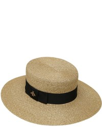 Gold Straw Hat Gucci 7Ma2z