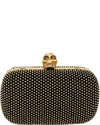 Alexander McQueen Gold Stud Box Clutch With Strap