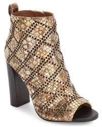 Gold Studded Leather Ankle Boots