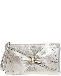 Small studded bow leather clutch medium 3776732