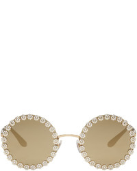 Dolce & Gabbana Dolce And Gabbana Gold Studded Daisy Sunglasses