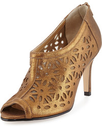 Gold Suede Ankle Boots