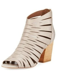 Donald J Pliner Greece Laser Cut Open Toe Bootie Blush Pink