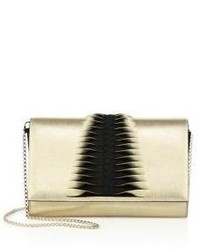 Christian Louboutin Paloma Convertible Tresse Leather Suede Clutch