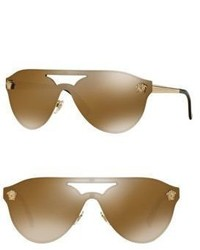 Versace 42mm Mirrored Pilot Sunglasses