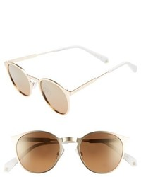 Polaroid 50mm Round Polarized Sunglasses
