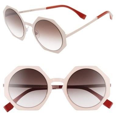 dbcd15429e228 Fendi 51mm Retro Octagon Sunglasses
