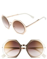 Fendi 51mm Retro Octagon Sunglasses