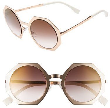 316524329caf7 ... Fendi 51mm Retro Octagon Sunglasses ...