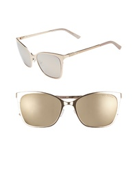Ted Baker London 53mm Rectangle Cat Eye Sunglasses
