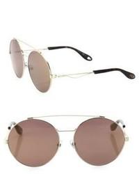 Givenchy 53mm Round Double Bridge Sunglasses