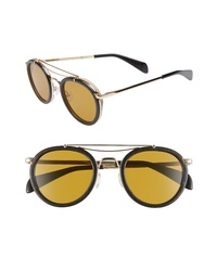 Rag & Bone 55mm Round Aviator Sunglasses