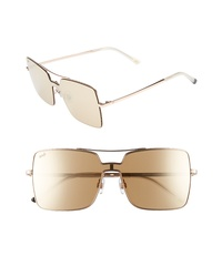 WEB 55mm Square Metal Shield Sunglasses