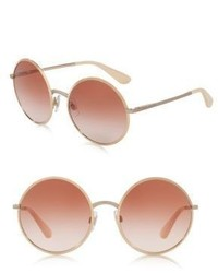 Dolce & Gabbana 56mm Round Mirrored Sunglasses