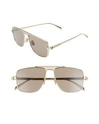 Alexander McQueen 58mm Navigator Sunglasses