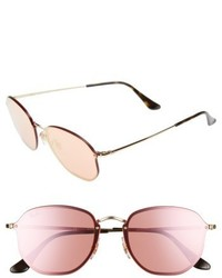 58mm round sunglasses gold pink medium 4951320