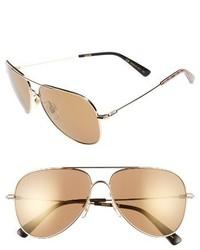 MCM 60mm Aviator Sunglasses Gold